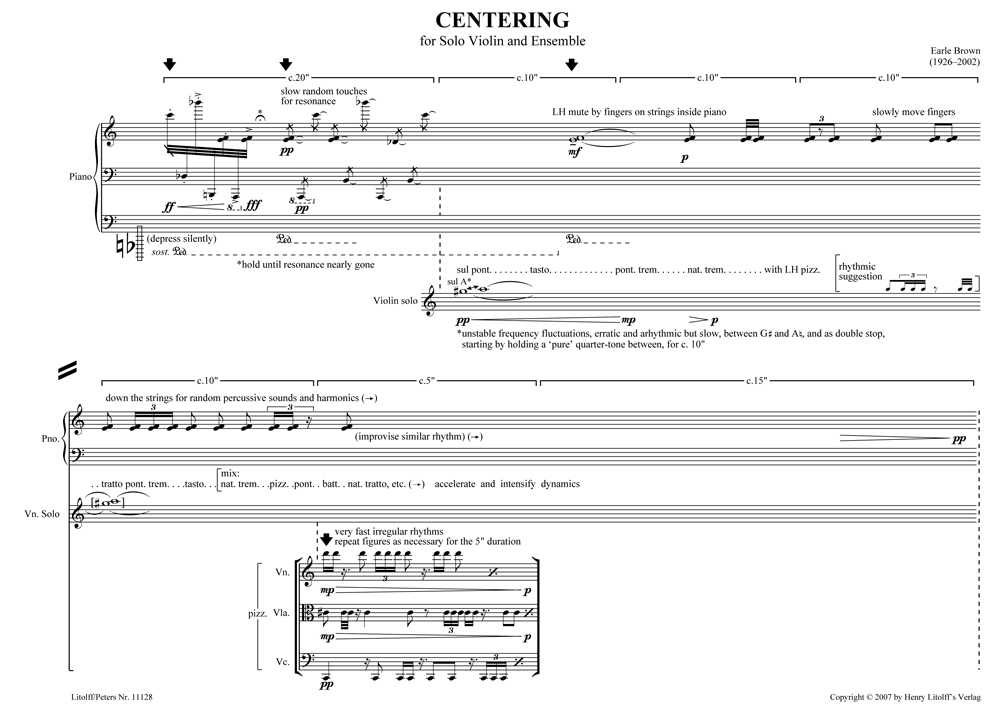 Centering sample page