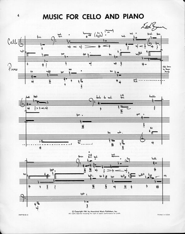 Music for Cello and Piano sample page