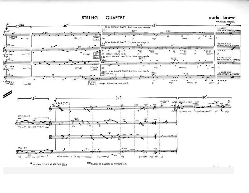 String Quartet sample page